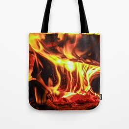 The hot fire in the furnace. Tote Bag