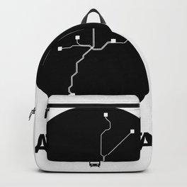 Atlanta Black Subway Map Backpack