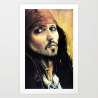 infamous Art Prints featuring Infamous Pirate by LaFaimArtiste