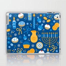 Hanukkah Happy Holidays Pattern Laptop & iPad Skin