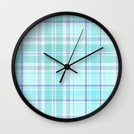 Pastel Plaid Wall Clock