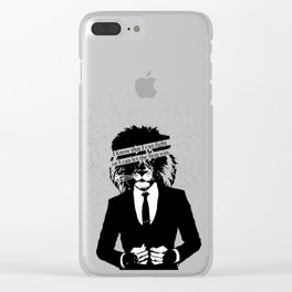 Let the lion win Clear iPhone Case