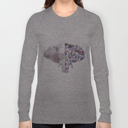 Geometric Elephant Long Sleeve T-shirt