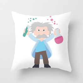 Science without religion is lame, religion without science is blind Throw Pillow