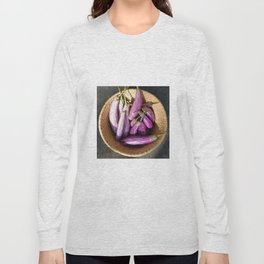 Asian Eggplant in a Basket Long Sleeve T-shirt