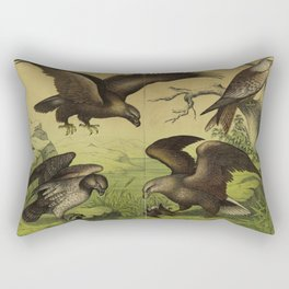 002 aquila chrysaetos aquila albicilla aquila brachydactylus Red or Cape Verde Kite10 Rectangular Pillow