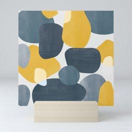 Abstract Mustard Shape Design Mini Art Print