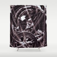 bikes Shower Curtains featuring Bikes Bikes Bikes by caitrinroeslerphoto