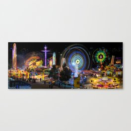 Fairground Attraction panorama Canvas Print