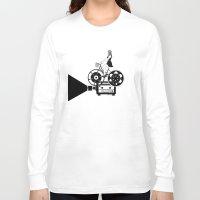 cinema Long Sleeve T-shirts featuring Cinema Paradiso by Henn Kim