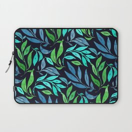 Loose Leaves - cool colors Laptop Sleeve