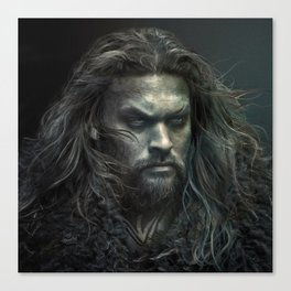 New Aquaman - Jason Momoa portrait Canvas Print