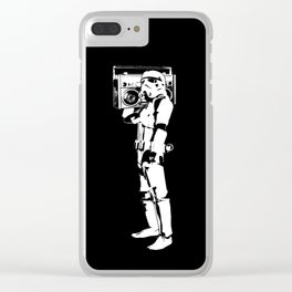 Boombox Trooper Clear iPhone Case