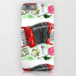 Retro red accordion iPhone Case
