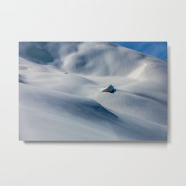 That Old Mountain Home Photographic Winter Landscape Metal Print