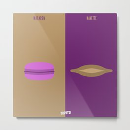 Macaron VS Navette (Paris VS Marseille) Metal Print