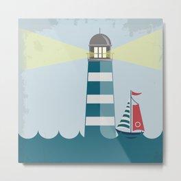 Sea Tower Metal Print