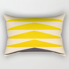 Colorful Ombre Yellow Geometric Triangle Pattern Rectangular Pillow