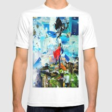 BAT VS. GOD Mens Fitted Tee White MEDIUM