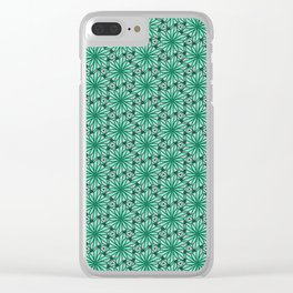 Geometry Teal Angular Geometric Floral Turquoise Green Cool Mint Green Radial Design Spirit Organic Clear iPhone Case
