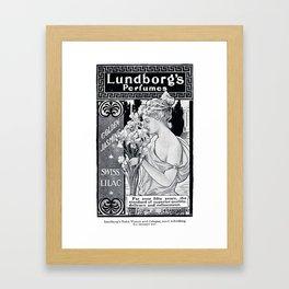 Lundborg's Perfumes  Framed Art Print