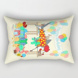 The Birthday Party Clown Shark Rectangular Pillow