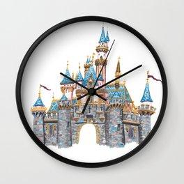 Princess Castle / Sleeping Beauty / Disneyland / Fine Art Giclee Print Wall Clock