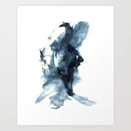 Indigo Depths No. 4 Art Print