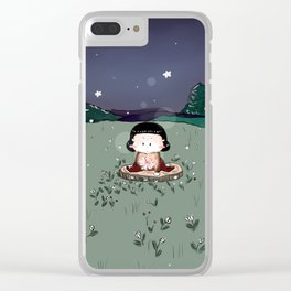 Little Farm Girl Clear iPhone Case