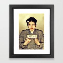 Rosa Parks, Civil Rights Activist Framed Art Print