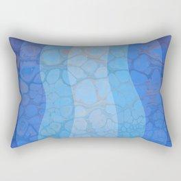 Beach waves and pebbles  Rectangular Pillow