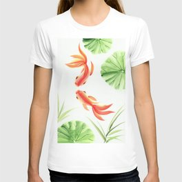Gold fishes painting T-shirt
