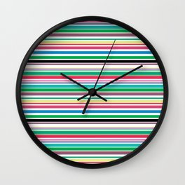 Colorful Stripes by Beebus Marble Wall Clock