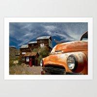Rusty Car in the Nevada Desert Art Print