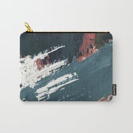 Thrive: a colorful, vibrant, abstract mixed media print in blues, red, orange, and white Carry-All Pouch