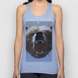 Grizzly Bear Face - Watercolor Unisex Tank Top