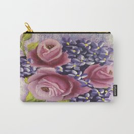 Roses and Lilacs Carry-All Pouch