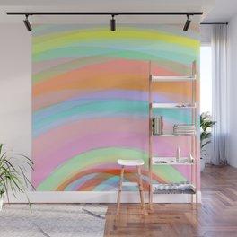 Double Rainbow - Fluor colors - Unicorn dreamers Wall Mural