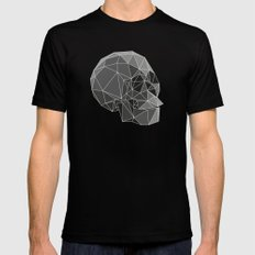 Geometric skulls Black MEDIUM Mens Fitted Tee