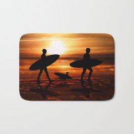 Sunset Surfers Bath Mat