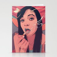 queen Stationery Cards featuring Moth Queen by Conrado Salinas