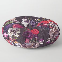 Flowers and Astronauts Floor Pillow