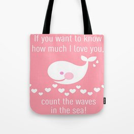 I love you - pink Tote Bag