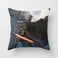 death star Throw Pillows featuring Death Star by Laura-A