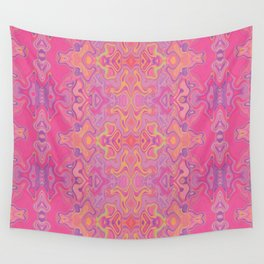 Mad pink marble 1 Wall Tapestry