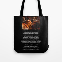 TWO WOLVES CHEROKEE TALE Native American Tale Tote Bag