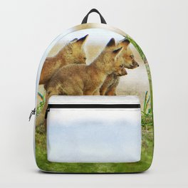 Curious Fox Pups Backpack