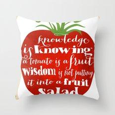 Tomato knowledge Throw Pillow
