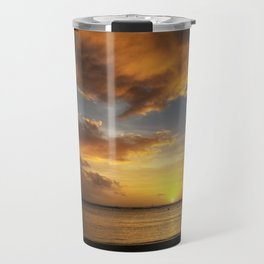 The Magic Minute when the Sun Dips the Water Travel Mug