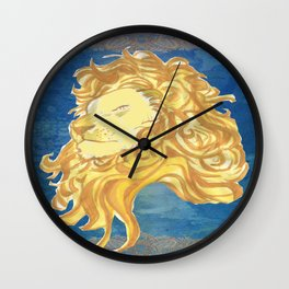GOLDEN LION Wall Clock